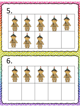 Ten Frame Counting:  Thanksgiving Set