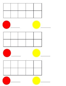 Ten Frame Counting Worksheet