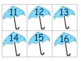 Ten Frame Counting in a Springtime Rain