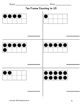 Ten Frame Counting to 10