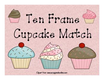 Ten Frame Cupcake Match - Math Game