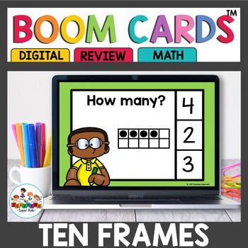 Ten Frame Digital Task Cards Boom Cards