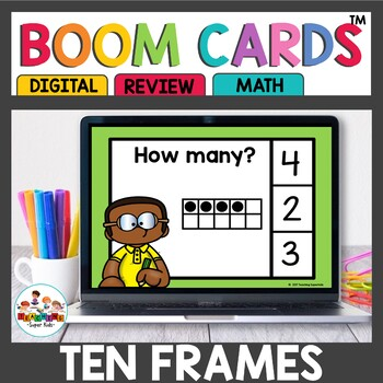 Ten Frame Digital Task Cards Boom Cards