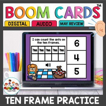 Ten Frame Digital Task Cards Boom