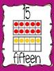 Ten Frame Display Posters #0-20 - Purple & Green Swirls