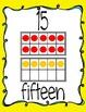 Ten Frame Display Posters #0-20 - Yellow & Blue Swirls
