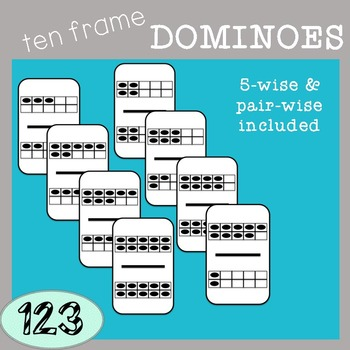 Ten Frame Dominoes Clip Art
