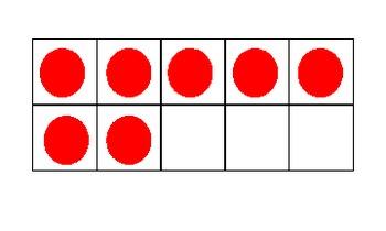 Ten Frame Dot Cards - Red