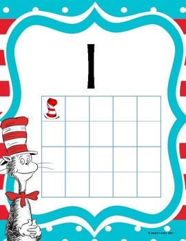 Ten Frame Dr. Seuss Number Poster