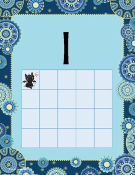 Ten Frame Dragon 0-20 Numbers Posters