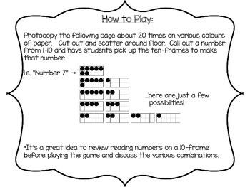 Ten-Frame Drop {A Math Game} FREEBIE!