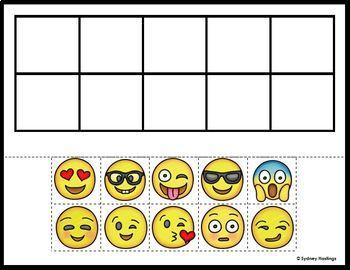 Ten Frame Emoji Practice Mats