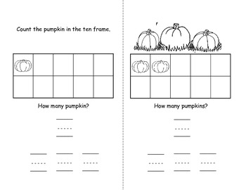 Ten Frame Fall Counting Book