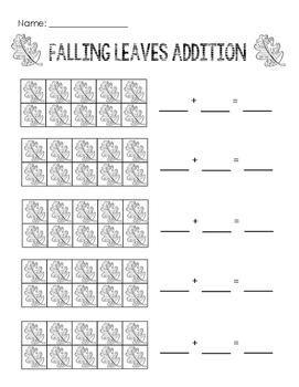 Ten Frame Addition: Falling Leaves