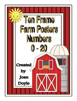 Ten Frame Farm Theme Posters (#'s 0-20)