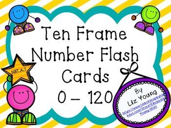 Ten Frame Flash Cards 0 - 120