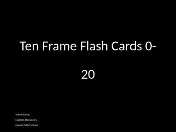 Ten Frame Flash Cards 0-20