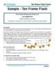 Ten Frame Flash Cards Sample