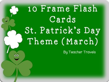 Ten Frame Flash Cards St. Patrick's Day Theme