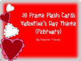 Ten Frame Flash Cards Valentine's Day Theme