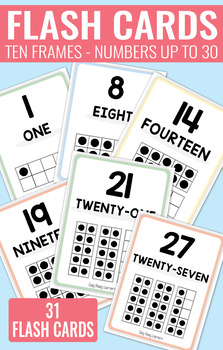 Ten Frame Flash Cards up to 30 - 2 sizes