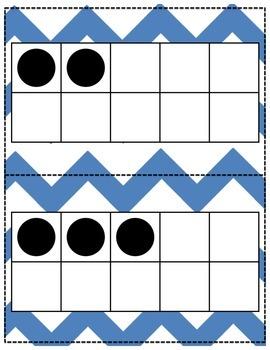 Ten Frame Flashcards for Number Talks