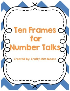 Ten Frame Flashcards for Number Talks