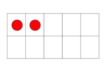 Ten Frame Flashcards with Counters 1 - 10 Kindergarten