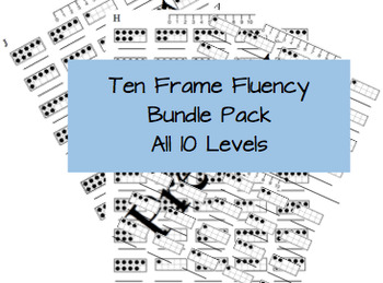 Ten Frame Fluency Bundle (all 10 levels)