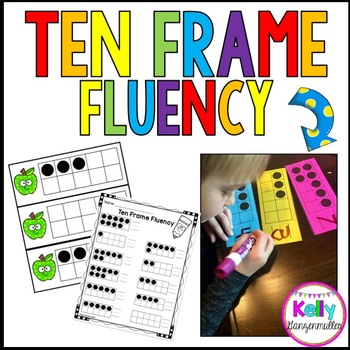 Ten Frame Fluency Work: Dry Erase cards, flash cards and more!