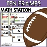 Ten Frame Football Math Stations