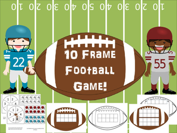 Ten Frame (and double 10 frame) Football Game!  BW and color!