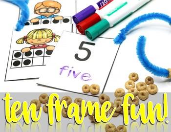 Ten Frame Activity for Kindergarten