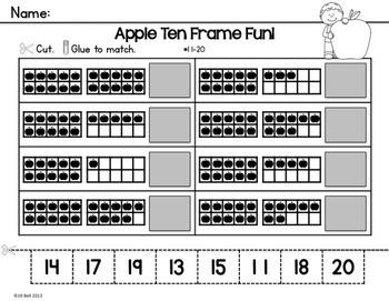 Ten Frames: Apples