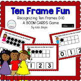 Ten Frame Fun BOOM CARDS Counting and Recognizing Ten Frames to 10