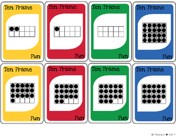 Ten Frame Fun-Card Game {FREEBIE}