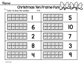 Ten Frames: Christmas