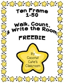 Ten Frame Fun! Count and Write Around the Room {Numbers 1-50} FREEBIE
