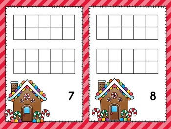 Ten Frames Activities and Centers / Christmas Math Centers