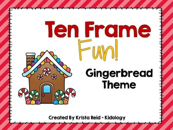 Christmas Ten Frames Activities and Centers