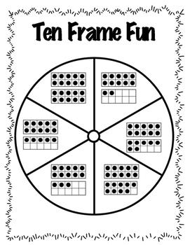 Ten Frame Fun FREEBIE- Identifying Numbers 1-20