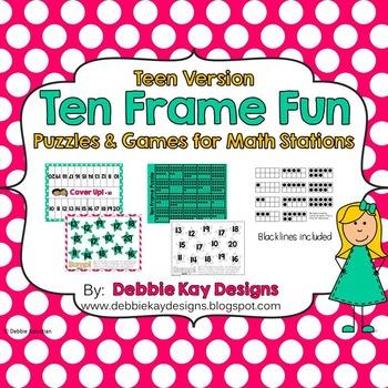 Ten Frame Fun:  Teen Version