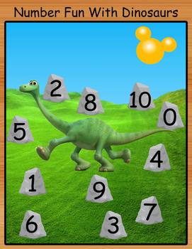 Ten Frame Fun with Dinosaurs