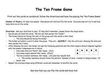Ten Frame Game