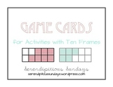 Ten Frame Game Cards