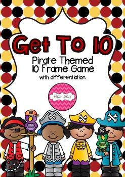 Ten Frame Game- Get To 10 Pirate Theme