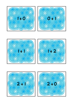 Ten Frame Game- Get To 10 Winter Theme