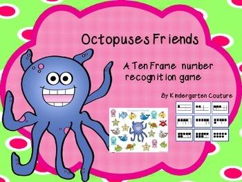 Ten Frame Game - Octopuses Friends