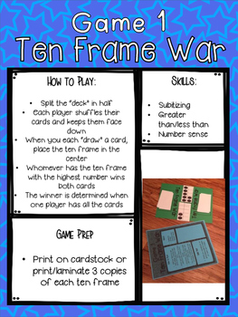 Ten Frame Games [[5 Easy to Prep Games]]