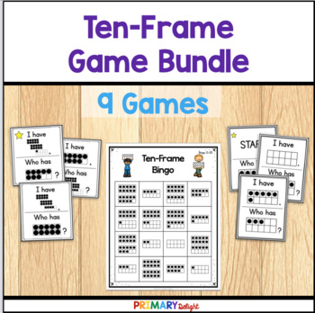 Ten Frame Games Bundle by Primary Delight   Teachers Pay Teachers